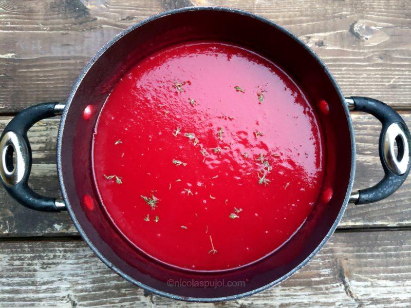 Vegan beet soup recipe